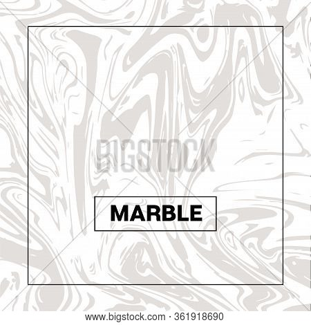 Gray Marble Texture, Funky Square Ink Wash Background. Liquid Paint Suminagashi Trendy Pattern For I