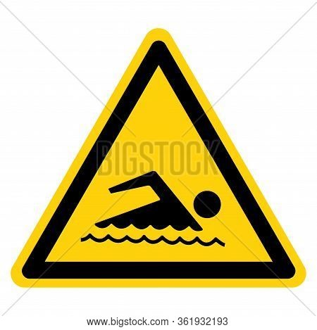 Warning Swimming Area Allowed Symbol Sign,vector Illustration, Isolate On White Background Label. Ep