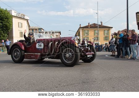 Brescia, Italy - May 19 2018: Mercedes-benz 710 Ssk 1928 Is An Old Racing Car In Rally Mille Miglia