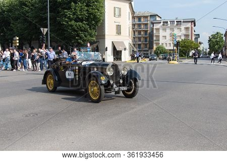 Brescia, Italy - May 19 2018: Bugatti T 40 1929 Is An Old Racing Car In Rally Mille Miglia 2018, Liv