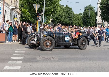 Brescia, Italy - May 19 2018: Mercedes-benz 710 Ssk 1929 Is An Old Racing Car In Rally Mille Miglia