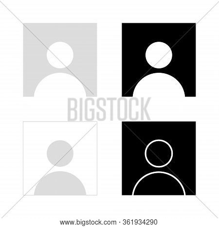 Default Profile Icon Set, Avatar Image Vector