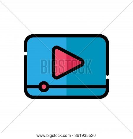 Video, Video Icon, Video Vector, Video Icon vector, Video camera icon, Video icon set, Video vector icons, Video app icon. Video player Icon Vector Illustration. Video icon flat design vector for web icons, symbol, logo, sign, UI.