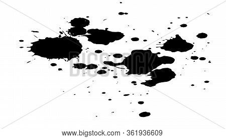 Black Ink Splashes. Royalty High-quality Free Best Stock Photo Image Of Black Blots And Ink Splashes