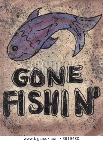 Sign Gone Fishin