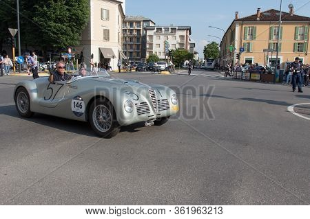 Brescia, Italy - May 19 2018: Alfa Romeo 6c 2500 Ss Spider Colli 1947 Is An Old Racing Car In Rally