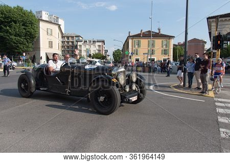 Brescia, Italy - May 19 2018: Bentley Mk Vi Special 1948 Is An Old Racing Car In Rally Mille Miglia