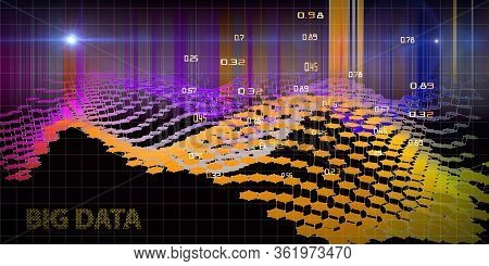 Abstract  Concept Of Decision Making Analysis. Big Data. Quantum Virtual Cryptography. Blockchain.
