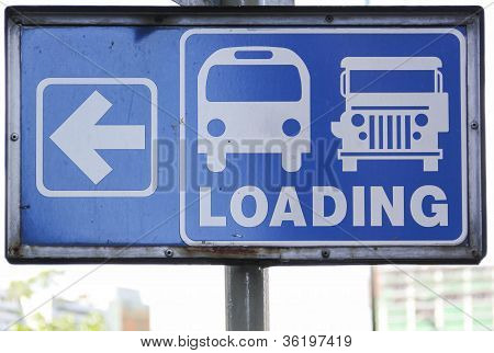 Jeeney Loading Road Sign Manila Philippines