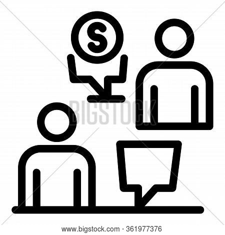 Financial Negotiations Icon. Outline Financial Negotiations Vector Icon For Web Design Isolated On W