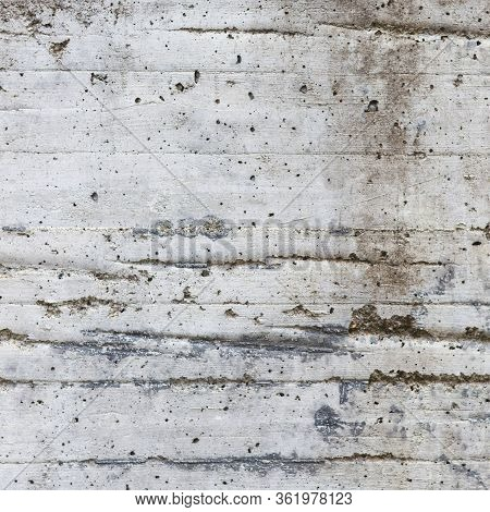 Closeup Of Grey Rough Slab Of Textured Concrete Material