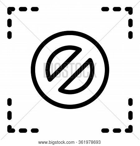 Denied In Square Icon. Outline Denied In Square Vector Icon For Web Design Isolated On White Backgro