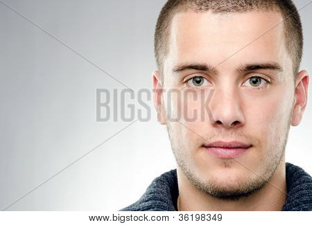 Close-up Portrait Of Attractive Young Man