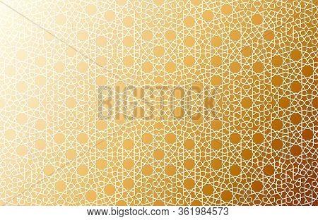 Traditional Arabic Islamic Girih Seamless Ornament Pattern. Eastern Oriental Persian Motif. Authenti