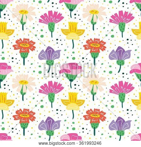 Little Wildflowers Set. Flowers, Flora Design Elements. Wild Life, Nature, Blooming Flowers, Botanic
