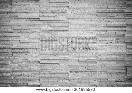 Modern Wall, Grey Textured Background. Stylish Masonry