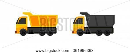 Dump Truck Icon Isolated On White Background