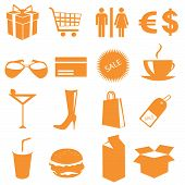 Shopping icons vector illustration on white background poster