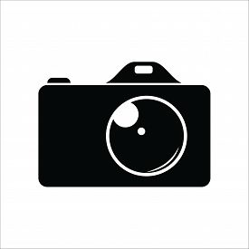 Photo Camera Icon On White Background, Photo Camera Icon Eps10, Photo Camera Icon Vector, Photo Came