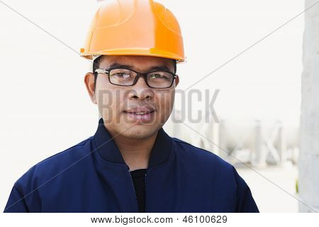 Portrait Of Young Asian Engineer