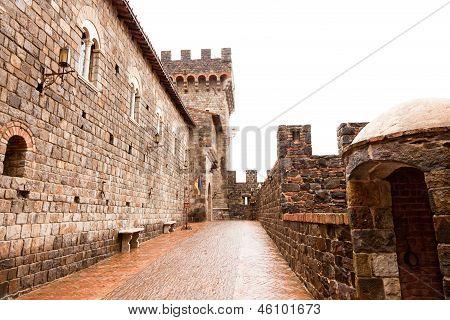 Inside A Castle Entrance