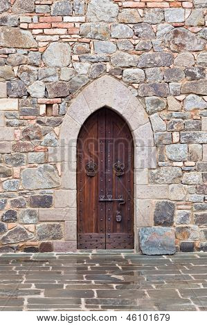 Medieval Door With Lock