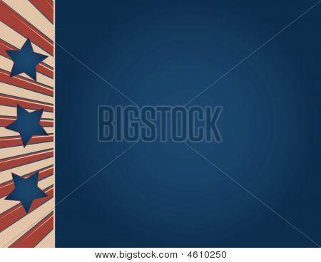 Vintage American Flag Sign