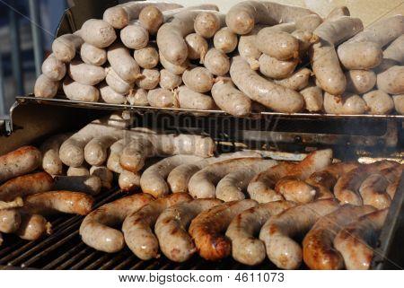 German Sausages On Bbq