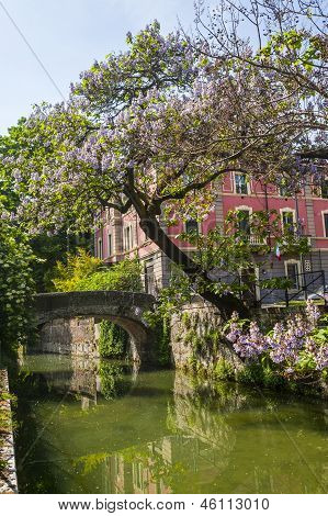 Old Bridge On The Martesana Canal (milan)