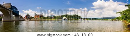 Panoramic image of downtown Chattanooga, Tennessee