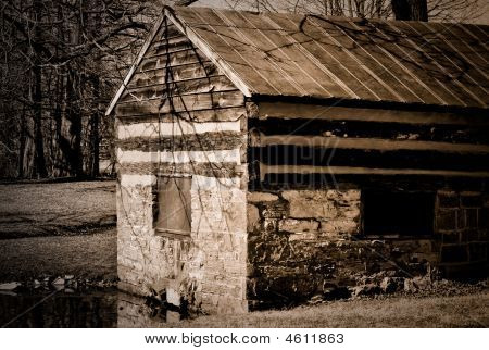Stone Shed Sepia