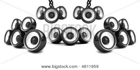 Black Modern High-power Audio System