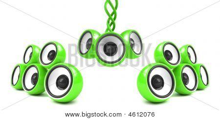 Green Stylish Modern Audio System
