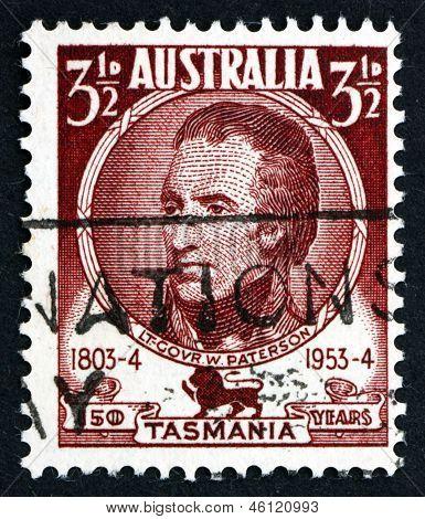 Estampilla Australia 1953 William Paterson, teniente gobernador