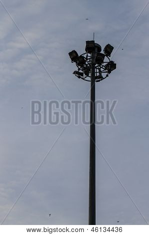 Triple Layer Floodlight That Against Blue Sky