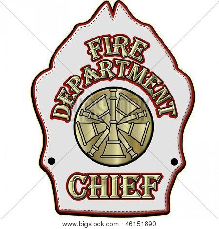 Fire Department Chief Helmet Shield