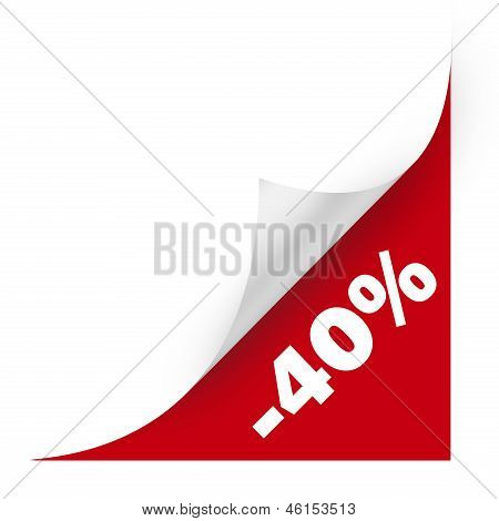 Sale Curved Corner Paper. High Resolution Color Illustration.