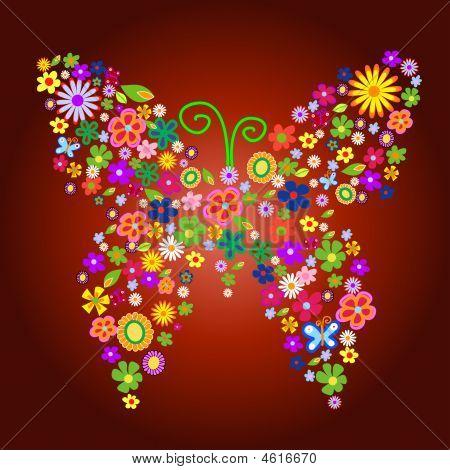 spring flower butterfly illustration please visit my portfolio for similar images poster