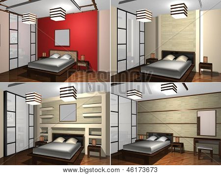Childs bedroom, 3D rendering
