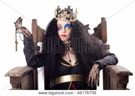 Queen Holding Christian Cross
