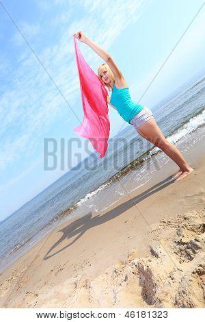 Body Woman Summertime Fun Concept