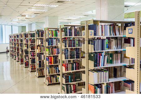 Row Of Bookselfs.