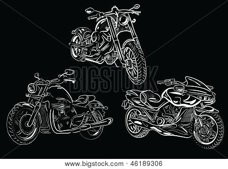 Moto, clipart, motorcycle, transport, bike, illustration. This is file of EPS10 format. poster