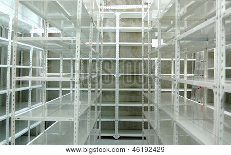 Empty Warehouse, Storage  Racks