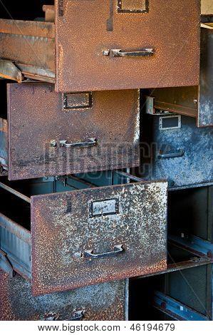 Rusty Filing Cabinets