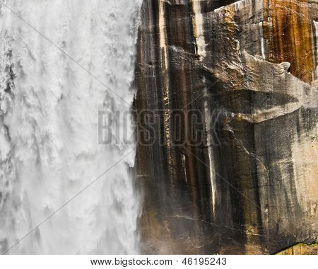 Waterfall And Granite