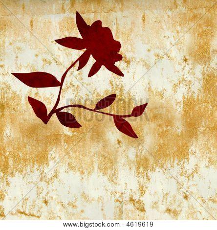 Grunge Flower In Indian Summer