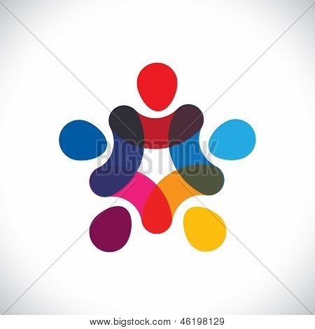 Concept Of Community Unity,solidarity & Friendship- Vector Graphic