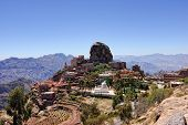 Mountain Yemen Eastern Haraz Al-Hutaib. An important shrine for the followers of the Ismaeli sect poster
