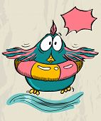 Poster with funny bird. Vector illustration EPS8 poster